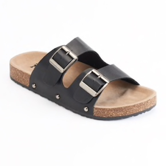 d171b2ccb598 Double Buckle Slide Footbed Sandals. M 5b68bbd2153795ae58d4c19d